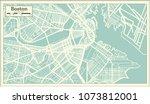 boston usa city map in retro...   Shutterstock .eps vector #1073812001