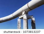outer pipe tube of large size... | Shutterstock . vector #1073813237