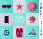 summer vacation concept with...   Shutterstock . vector #1073814854