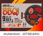 vector barbecue party...   Shutterstock .eps vector #1073816441
