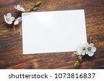 spring flowering branch on... | Shutterstock . vector #1073816837