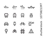 transportation vector line icon ... | Shutterstock .eps vector #1073821397