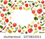 the concept of healthy eating.... | Shutterstock . vector #1073823311