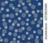 seamless oriental ornamental... | Shutterstock .eps vector #1073825684
