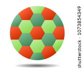 shape of football with abstact... | Shutterstock .eps vector #1073854349