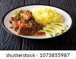 ecuadorian traditional food ... | Shutterstock . vector #1073855987