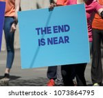 the end is near   Shutterstock . vector #1073864795