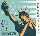 statue of liberty. new york...   Shutterstock .eps vector #1073865851