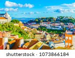 view of  alfama district at... | Shutterstock . vector #1073866184