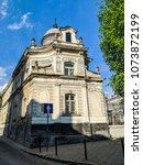 lviv old architecture cityscape ... | Shutterstock . vector #1073872199