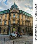 lviv old architecture cityscape ... | Shutterstock . vector #1073872235