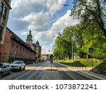 lviv old architecture cityscape ... | Shutterstock . vector #1073872241