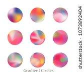 round gradient set of vibrant... | Shutterstock .eps vector #1073892404