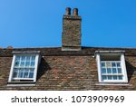 cottage and sky | Shutterstock . vector #1073909969