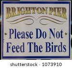 sign on brighton pier | Shutterstock . vector #1073910