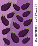 vector eggplant background | Shutterstock .eps vector #1073911379