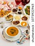 iftar table of ramadan with...