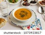 close up taken soup  ezo gelin  ... | Shutterstock . vector #1073923817