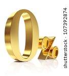 gold zero percent discount... | Shutterstock . vector #107392874
