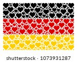 german flag concept designed of ... | Shutterstock .eps vector #1073931287