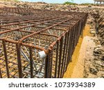 steel pile reinforced with high ... | Shutterstock . vector #1073934389