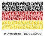 german state flag concept made... | Shutterstock .eps vector #1073936909