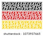 german flag pattern composed of ... | Shutterstock .eps vector #1073937665