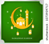 ramadhan kareem poster with... | Shutterstock .eps vector #1073939717