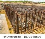 steel rebars for reinforced... | Shutterstock . vector #1073940509