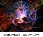numeric connection series.... | Shutterstock . vector #1073943395
