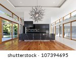 amazing kitchen and living area ... | Shutterstock . vector #107394695
