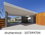 modern australian house front... | Shutterstock . vector #107394704