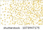 big golden confetti. festive... | Shutterstock .eps vector #1073947175
