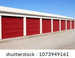 numbered self storage and mini... | Shutterstock . vector #1073949161