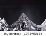 diamond silver crown for miss... | Shutterstock . vector #1073950985