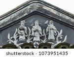 auspicious festive statue... | Shutterstock . vector #1073951435