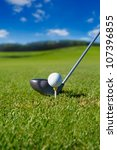 golf club with ball on tee | Shutterstock . vector #107396855
