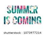 summer is coming lettering.... | Shutterstock .eps vector #1073977214