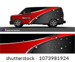 van graphics.abstract curved... | Shutterstock .eps vector #1073981924