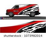 van graphics.abstract curved... | Shutterstock .eps vector #1073982014