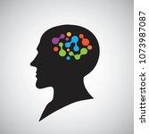 artificial intelligence  ai ... | Shutterstock .eps vector #1073987087