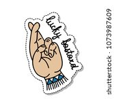 lucky bastard illustration... | Shutterstock .eps vector #1073987609