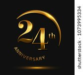 24 anniversary celebration...   Shutterstock .eps vector #1073995334