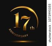 17 anniversary celebration... | Shutterstock .eps vector #1073995355