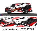 cargo van graphic vector.... | Shutterstock .eps vector #1073997089