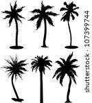 set of palm tree | Shutterstock .eps vector #107399744