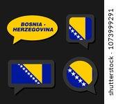 set of bosnia and herzegovina... | Shutterstock .eps vector #1073999291
