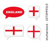 set of england flag in dialogue ... | Shutterstock .eps vector #1073999315