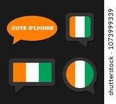 set of cote d'ivoire flag in... | Shutterstock .eps vector #1073999339