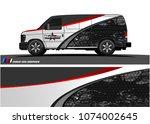 cargo van graphic vector....   Shutterstock .eps vector #1074002645